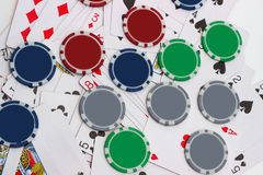 Big win at poker game Royalty Free Stock Photography