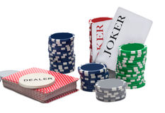 Big win at poker game Royalty Free Stock Photography