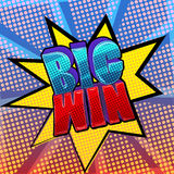 Big win pop art sign. Funky colorful pop art style illustration with words Big Win vector illustration