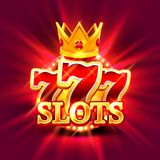 Big win slots 777 banner casino background. Big win slots 777 banner casino on the green background. Vector illustration Royalty Free Stock Photos