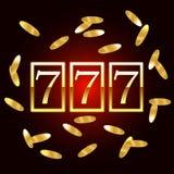 Big win slots 777 for banner casino jackpot. Vector illustration. Vector illustration. Big win slots 777 for banner casino jackpot stock illustration