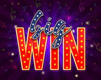 Big Win text with marquee lights. Big Win text with marquee lights, Casino Concept Stock Photography
