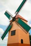 Big wind turbine under the big sky. Wind turbine in the farm Royalty Free Stock Images