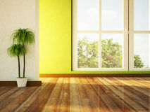 Free Big Window And A Plant Stock Image - 29296631