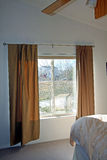 Big window in bedroom Stock Photography