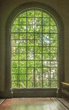 Big window in British palace stock images