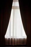 Big window curtain Stock Photo
