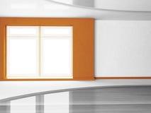 Big window in empty room Royalty Free Stock Photo