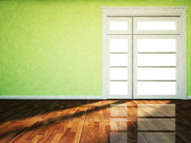 A big window in the empty room Royalty Free Stock Photos