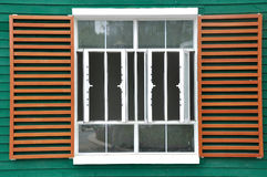 Big window in grid and color Royalty Free Stock Photography