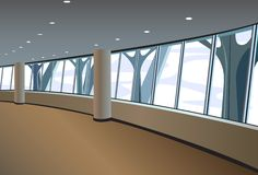Big window interior vector Royalty Free Stock Photography