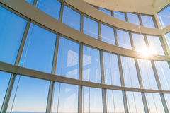 Big window with sunshine. Stock Photos