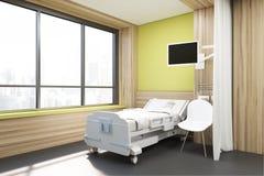 Big window ward, yellow walls Royalty Free Stock Photo