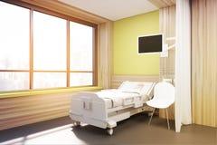 Big window ward, yellow walls, toned Stock Photos