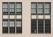 Big Windows. Large windows on the side of an old industrial building royalty free stock photography