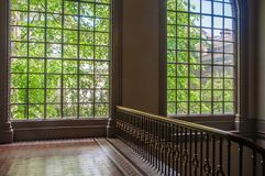 Big windows in British palace royalty free stock image