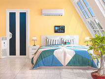 Free Big Windows In The Room With Heating Royalty Free Stock Photo - 80425685