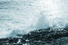 Big windy waves Stock Photo