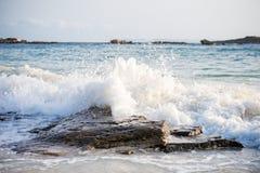 Big windy waves. Royalty Free Stock Photo