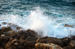 Big windy waves. Royalty Free Stock Image