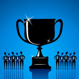 Big winning trophy Stock Photography