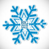 Big winter sale. Sticker, Christmas offer Stock Image