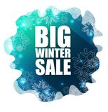 Big Winter Sale background Royalty Free Stock Images