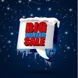 Big winter sale background Stock Photo