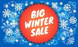Big winter sale banner, isometric style stock illustration