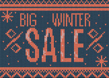Big winter sale banner Royalty Free Stock Image