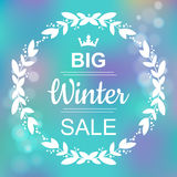 Big Winter Sale Banner Royalty Free Stock Photo