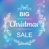 Big Winter Sale Banner Stock Photography