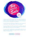 Big Winter Sale Best Choice Hanging Tag on Thread Stock Photography