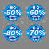 Big winter sale,   big sale special offer banner,  illustration. Stock Image