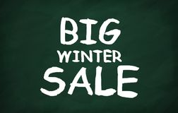 Big winter sale. On the blackboard with chalk write Big winter sale Royalty Free Stock Photography