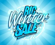 Big winter sale design. Advertising vector banner concept Stock Photography