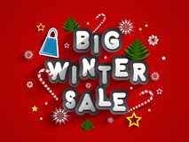 Big Winter Sale Royalty Free Stock Photos