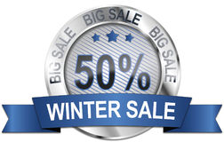 50% big winter sale icon Stock Photography