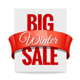 Big winter sale. Label Royalty Free Stock Photography