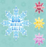 Big winter sale poster background Stock Photo