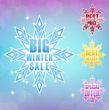 Big winter sale poster background Royalty Free Stock Photos