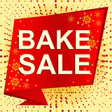 Big winter sale poster with BAKE SALE text. Advertising vector banner Stock Photography