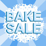 Big winter sale poster with BAKE SALE text. Advertising vector banner Stock Photos
