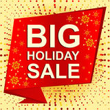 Big winter sale poster with BIG SALE text. Advertising vector banner Royalty Free Stock Image