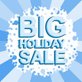 Big winter sale poster with BIG SALE text. Advertising vector banner Stock Image