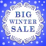 Big winter sale poster Royalty Free Stock Image