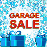 Big winter sale poster with GARAGE SALE text. Advertising vector banner Stock Photo