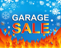 Big winter sale poster with GARAGE SALE text. Advertising vector banner Royalty Free Stock Photography