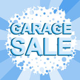 Big winter sale poster with GARAGE SALE text. Advertising vector banner Stock Photography