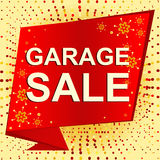 Big winter sale poster with GARAGE SALE text. Advertising vector banner Stock Image